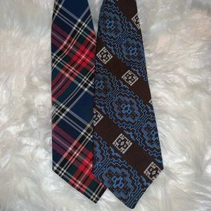 Vintage Clip on Tie Set